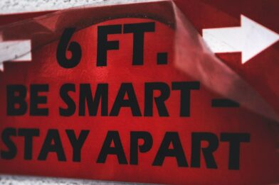 6 ft. be smart-stay apart Safety Labels